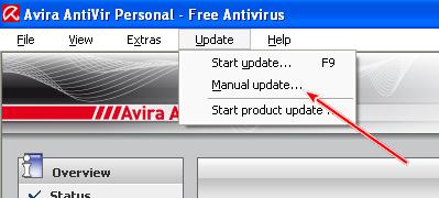 Come aggiornare manualmente Avira Antivir