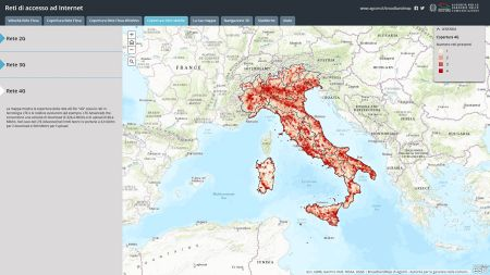 COME VEDERE LA COPERTURA DELLE RETI FISSE E MOBILI IN ITALIA