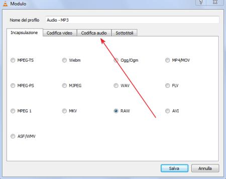 Come estrarre l'audio da un video con VLC
