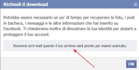 Come salvare il proprio profilo Facebook -Facebook Archive-