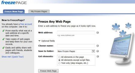 COME CONGELARE UN PRECISO MOMENTO NEL WEB