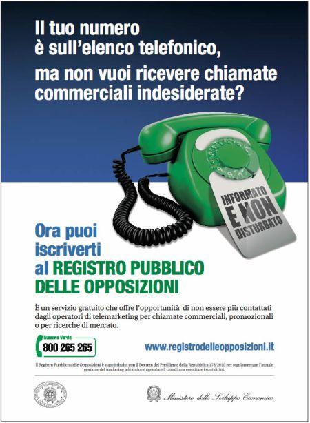 COME NON RICEVERE PIU' TELEFONATE PUBBLICITARIE