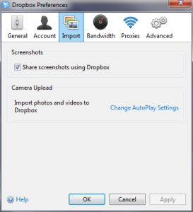Come salvare screenshot direttamente su Dropbox