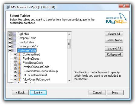 COME CONVERTIRE UN DATABASE ACCESS IN MYSQL