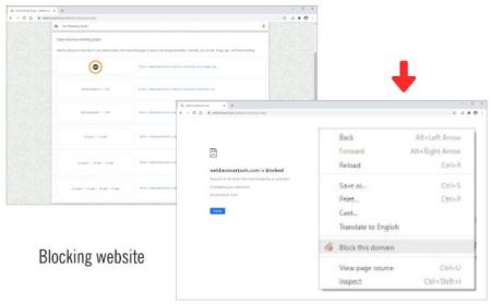 COME BLOCCARE INTERI DOMINI WEB INDESIDERATI